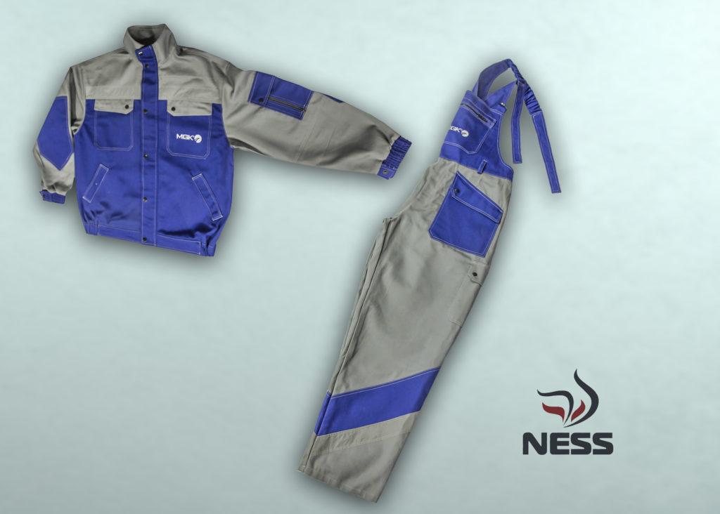 Летний комплект (куртка, полукомбинезон) из огнестойкой ткани Ткань: «INDURA» , хлопок – 88%, нейлон - 12%, 439 г/м² Застежка: на метал. молнии